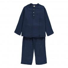 Kurta   Pantalon Dan Bleu marine