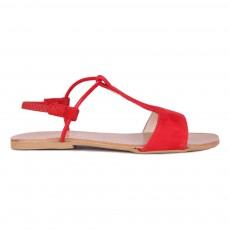Sandales Suède Mikonos Rouge