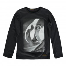 T-Shirt Skateur Longjohn Noir