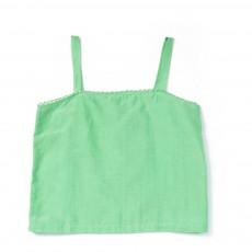 Top Coton Soie Melilot Vert