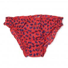 Bikini Fleurs Mint Rouge