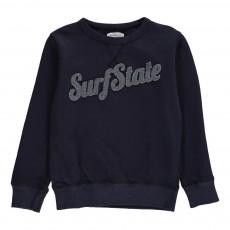 "Sweat ""Surf State"" Bouclette Bleu marine"
