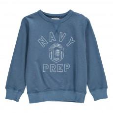 """Sweat """"Navy Prep"""" Bleu jean"""