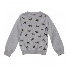 Pull Animaux Sauvages Parr Gris chiné
