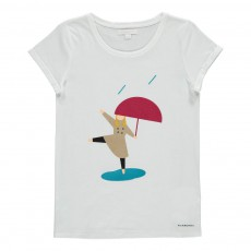 T-Shirt Personnage Girl Trench Blanc