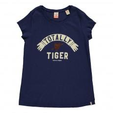 "T-shirt ""Tiger"" Bleu marine"
