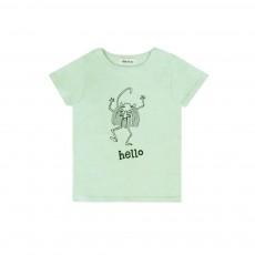 T-shirt Hello Molo Vert d'eau