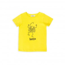 T-shirt Hello Molo Jaune citron