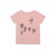 T-shirt Animaux Party Time Rose pâle