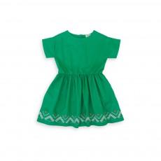 Robe Brodée Zanzibar Vert émeraude