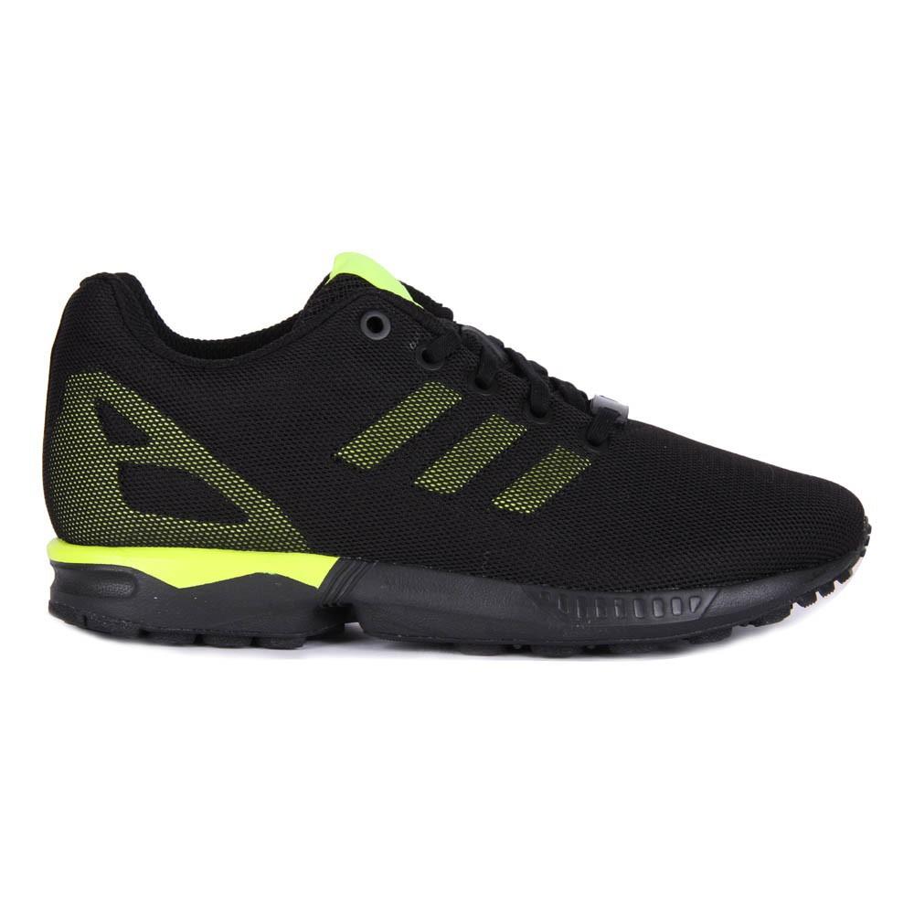 baskets zx flux bicolores noir jaune fluo adidas chaussures smallable. Black Bedroom Furniture Sets. Home Design Ideas
