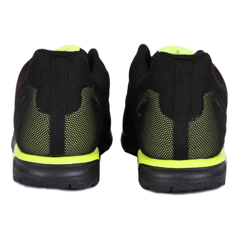 baskets zx flux bicolores noir jaune fluo adidas. Black Bedroom Furniture Sets. Home Design Ideas
