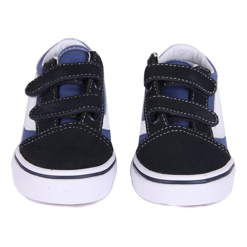 baskets scratchs old skool bleu marine vans chaussures enfant smallable. Black Bedroom Furniture Sets. Home Design Ideas
