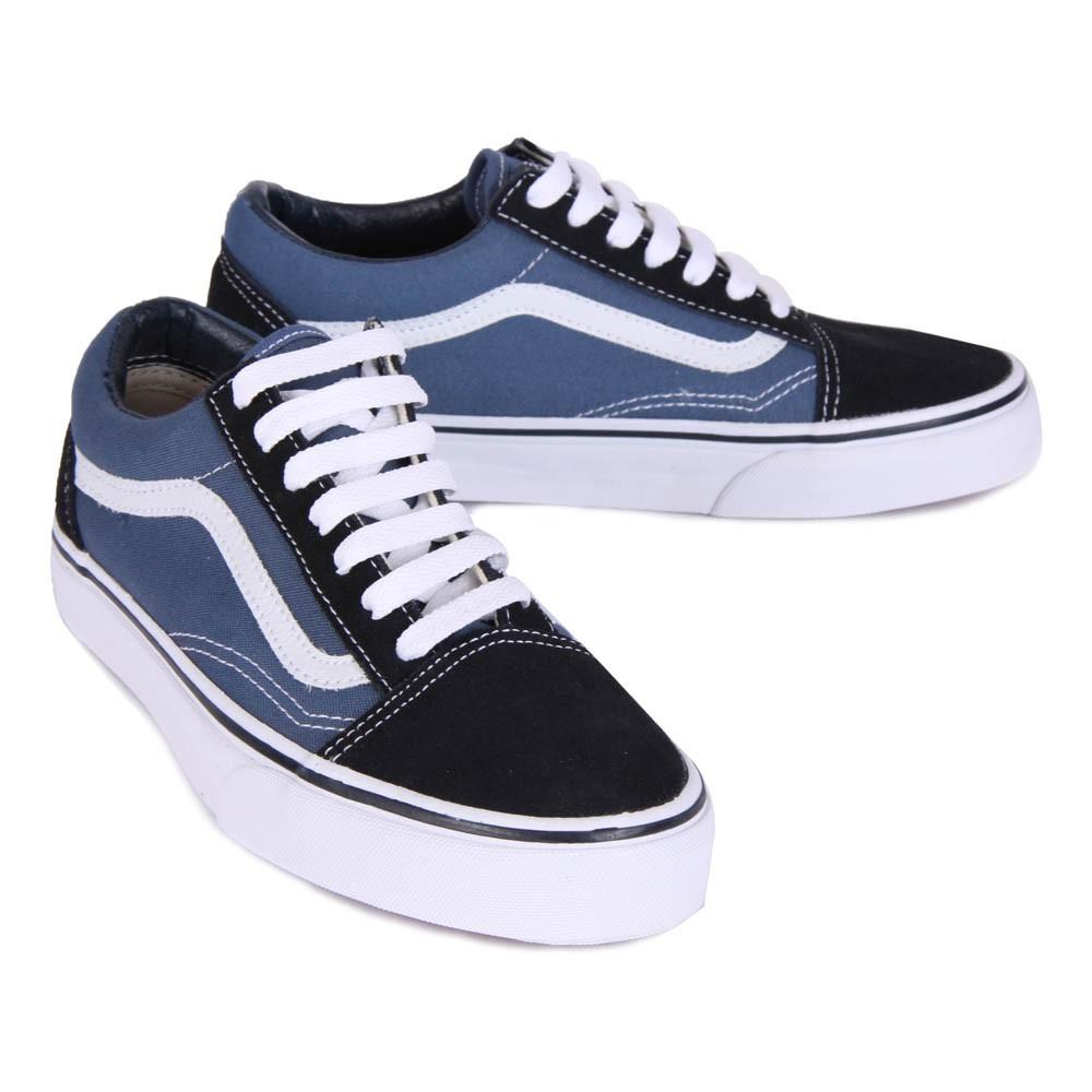 baskets lacets old skool bleu marine vans chaussures smallable. Black Bedroom Furniture Sets. Home Design Ideas