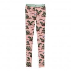 Legging Palmiers Rose pâle