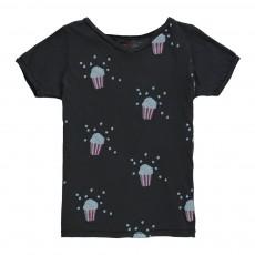 T-Shirt Pop Corn Noir