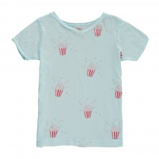 T-Shirt Pop Corn Bleu