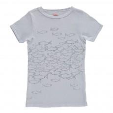 T-Shirt Poissons Gris perle