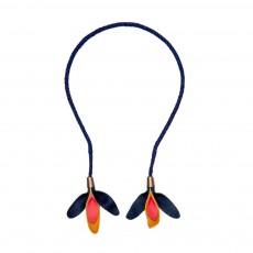 Headband / Collier Pétales Noir