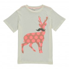 T-Shirt Cerf Pois Chuckle Rose