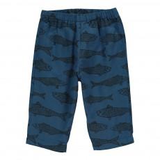 Pantalon Poissons Futur Bleu nuit
