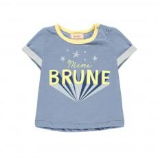 T-shirt Brune Bleu