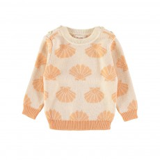 Pull Coquillages Bain de Mer Orange