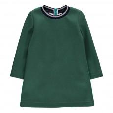 Robe Bicolore Dos Vert