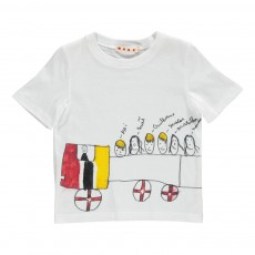 T-shirt Bus Famille Blanc