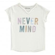 "T-Shirt ""Never Mind"" Boxo Blanc"