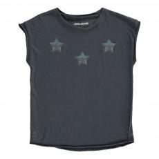 T-Shirt Etoiles Strass Boy Bleu nuit