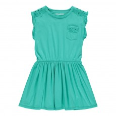 Robe Broderies Willy Bleu turquoise
