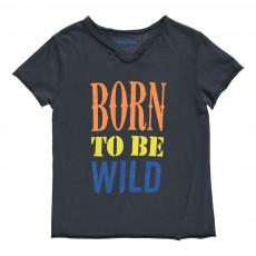 "T-Shirt ""Born To Be Wild"" Boxer Bleu nuit"