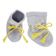 Chaussons Point Mousse Gris perle