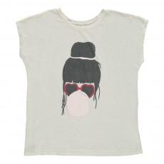 T-Shirt Loose Bubble Gum Ecru