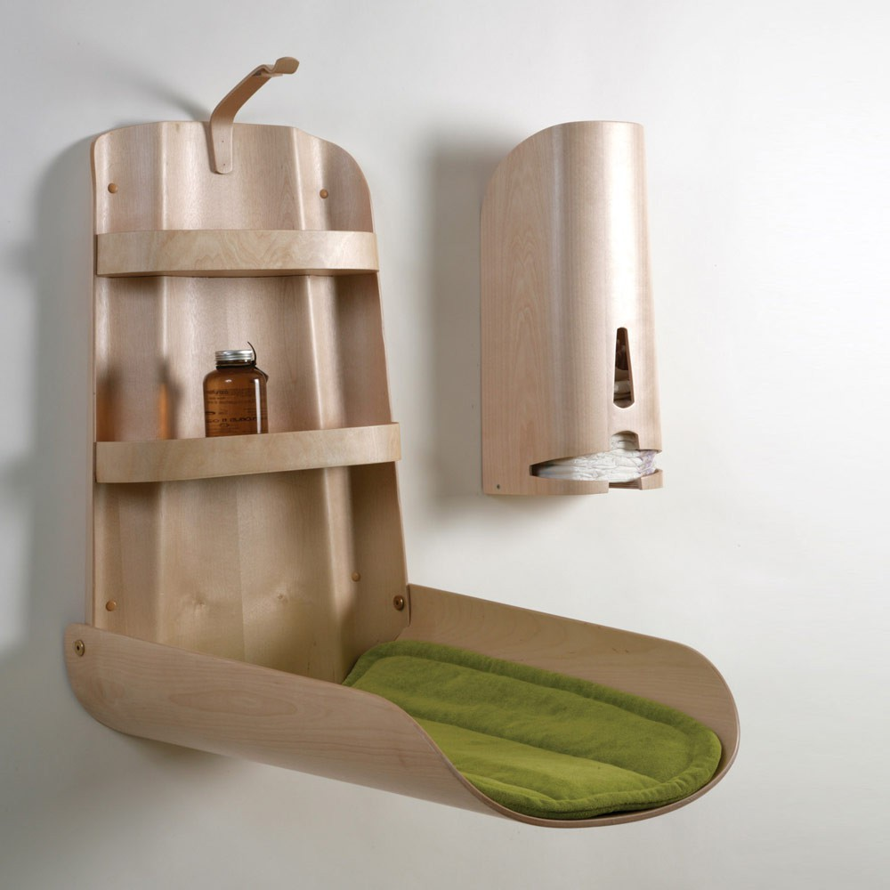 Table langer murale naturel by bo design univers b b - Table a langer murale autour de bebe ...