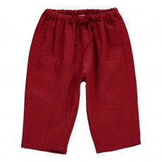 Pantalon Lin Peppercorn Bébé Rouge