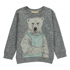 Sweat Ours Silas Gris chiné