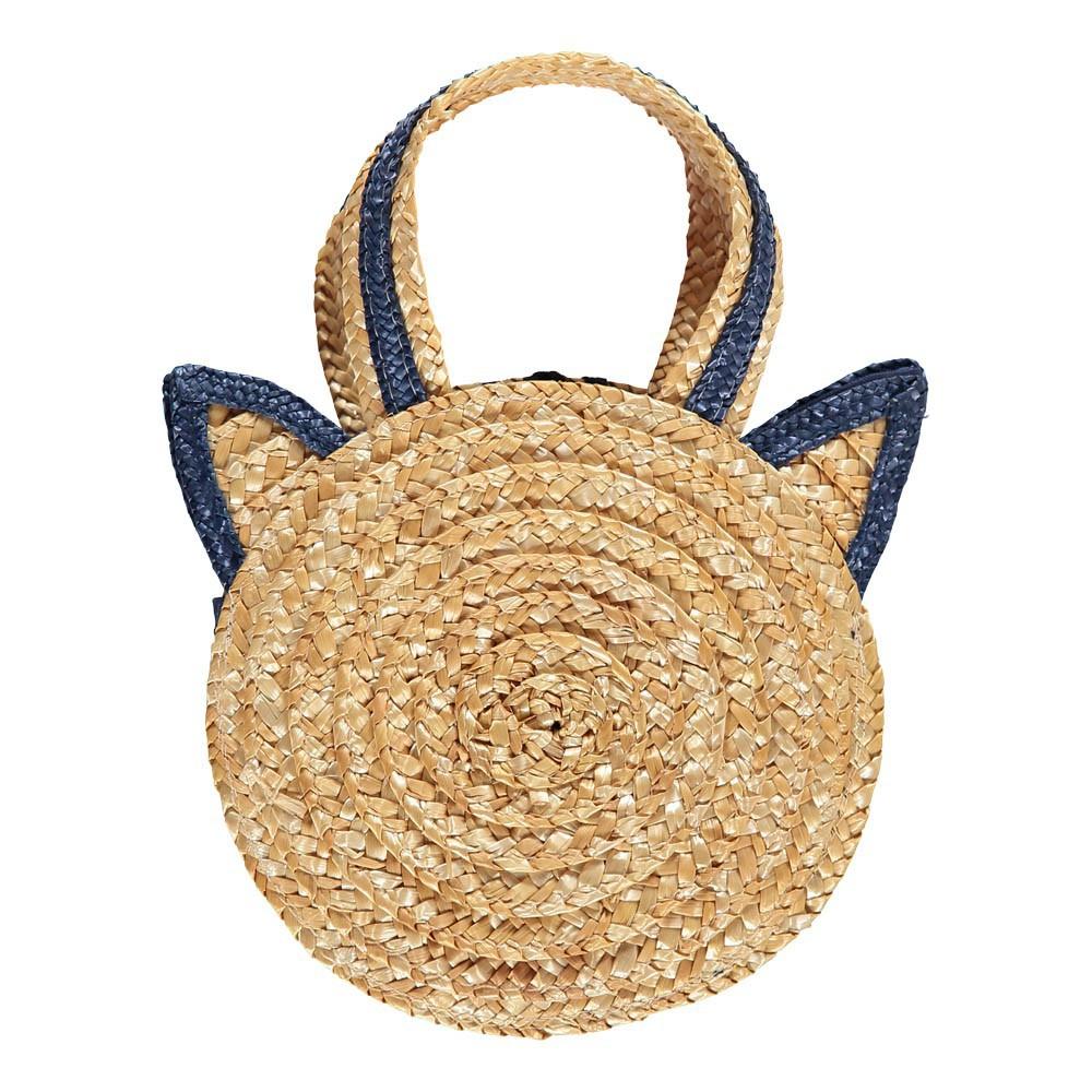 Acheter Panier Paille : Panier chat paille beige bonton mode enfant smallable