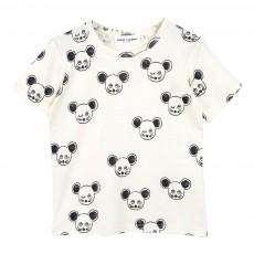 T-Shirt Coton Bio Souris Noires Blanc