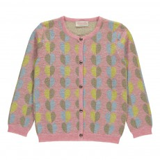 Cardigan Cœurs Lurex Fox Rose