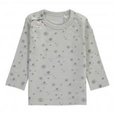 T-Shirt Coton Bio Allover Visage Chien Gris