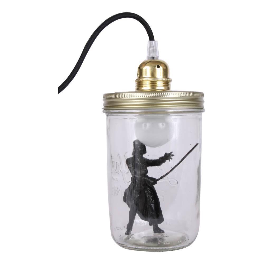 Lampe bocal poser dark vador noir la t te dans le bocal for Lampe a poser noire