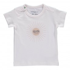 T-Shirt Coton Bio Here Comes The Sun Blanc
