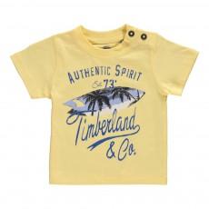 T-Shirt Planches de Surf Coton Bio Jaune