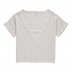 T-Shirt Rayé Pop Ecru