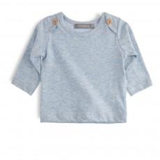 T-shirt Boutons Epaules Norman Bleu pâle