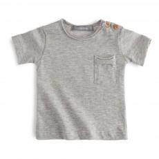 T-shirt Poche Sacha Gris chiné