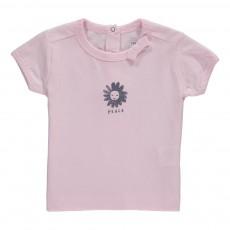 T-Shirt Coton Bio Fleur Peace Rose