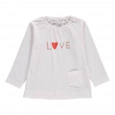 Tunique Coton Bio Love ML Blanc